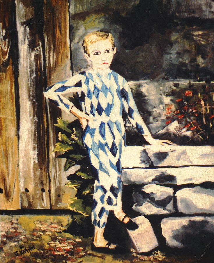 Lily Pierrot Painting
