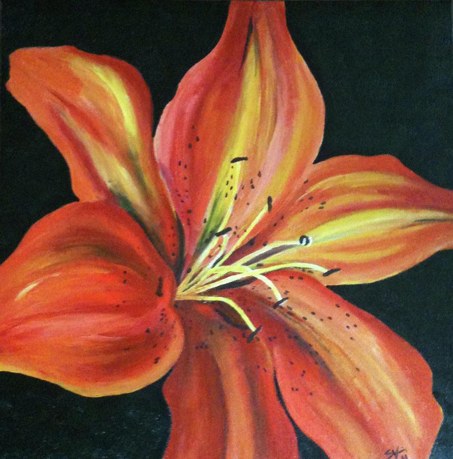 Lily Painting by Sarah Voorheis