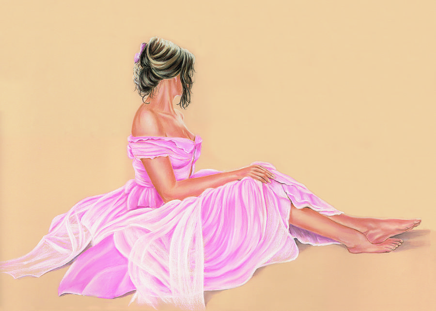 Lily The Pink Painting  - Lily The Pink Fine Art Print
