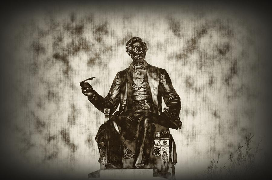 Lincoln - Pen In Hand Photograph  - Lincoln - Pen In Hand Fine Art Print