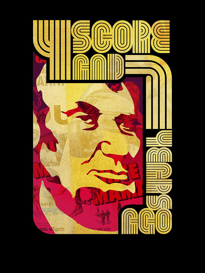 Typography Digital Art - Lincoln 4 Score On Black by Jeff Steed