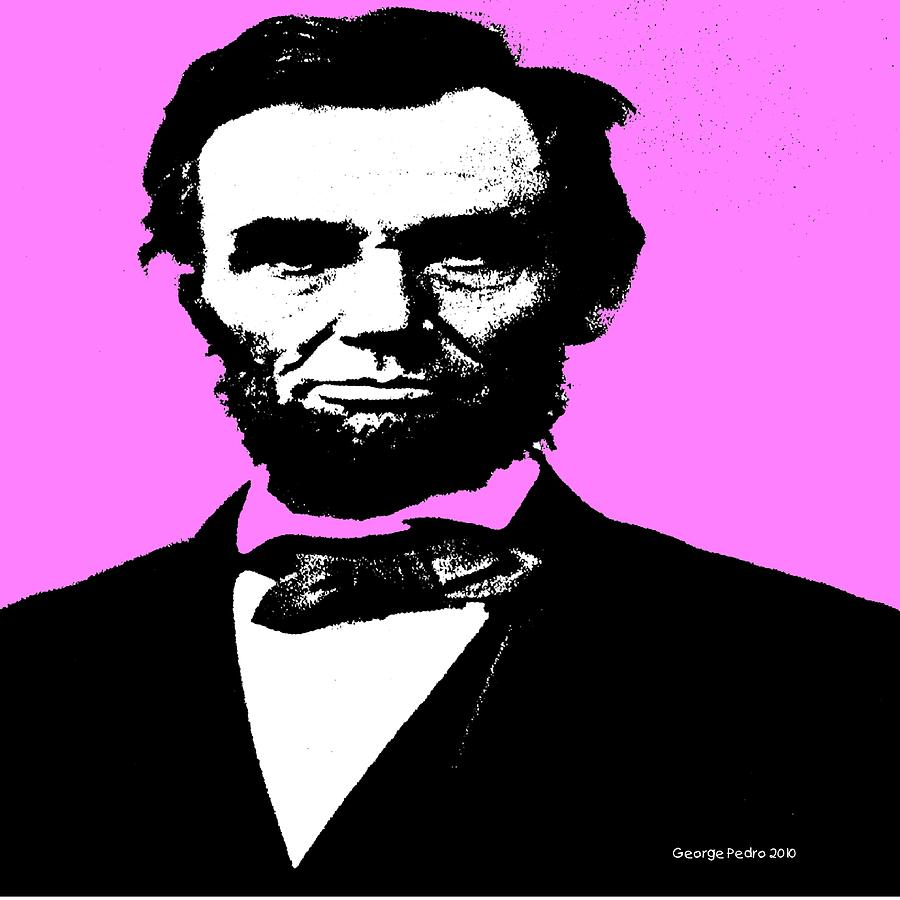 Lincoln Digital Art  - Lincoln Fine Art Print