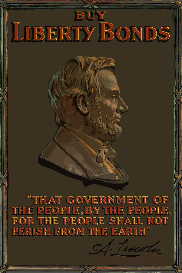 Lincoln Gettysburg Address Quote Painting  - Lincoln Gettysburg Address Quote Fine Art Print