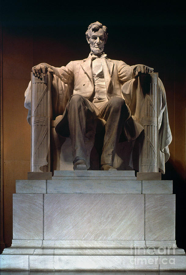 Lincoln Memorial: Statue Photograph  - Lincoln Memorial: Statue Fine Art Print