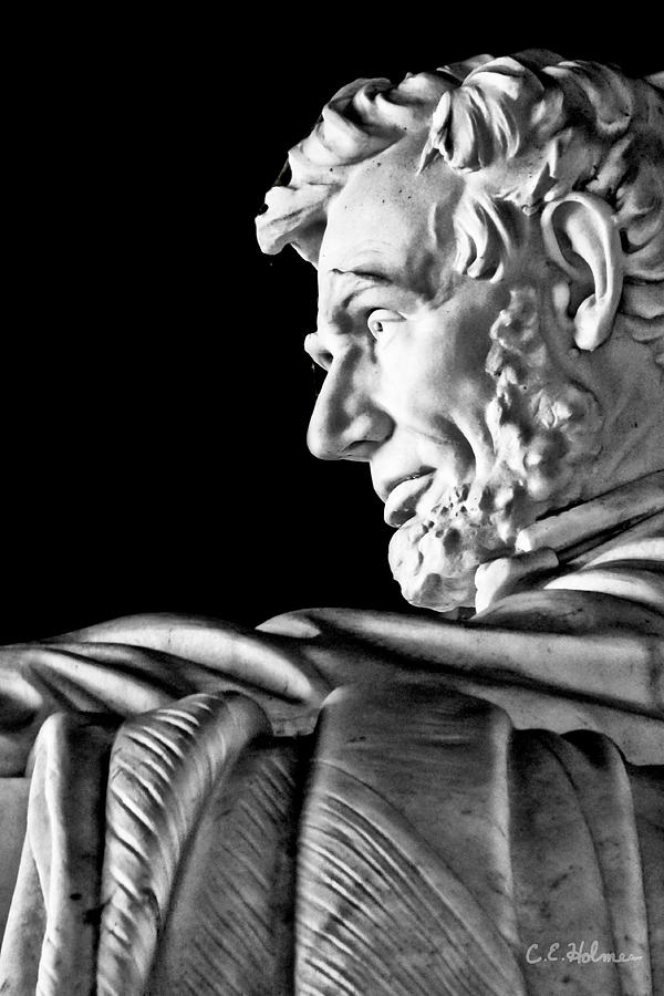 Lincoln Profile Photograph  - Lincoln Profile Fine Art Print