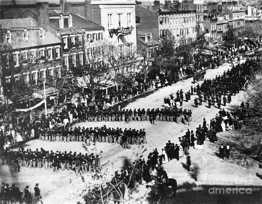 Lincolns Funeral Procession, 1865 Photograph