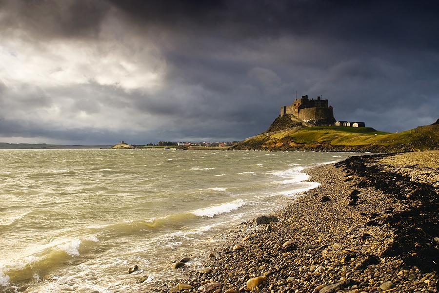 Attractions Photograph - Lindisfarne Castle, Holy Island by John Short