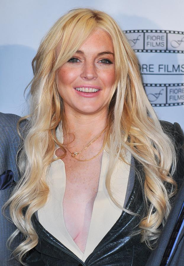 Lindsay Lohan In Attendance For Gotti Photograph  - Lindsay Lohan In Attendance For Gotti Fine Art Print