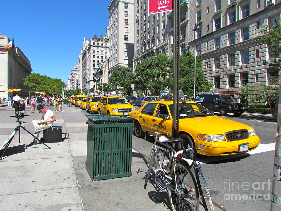 Taxis Photograph - Lined Up For Business by Randi Shenkman