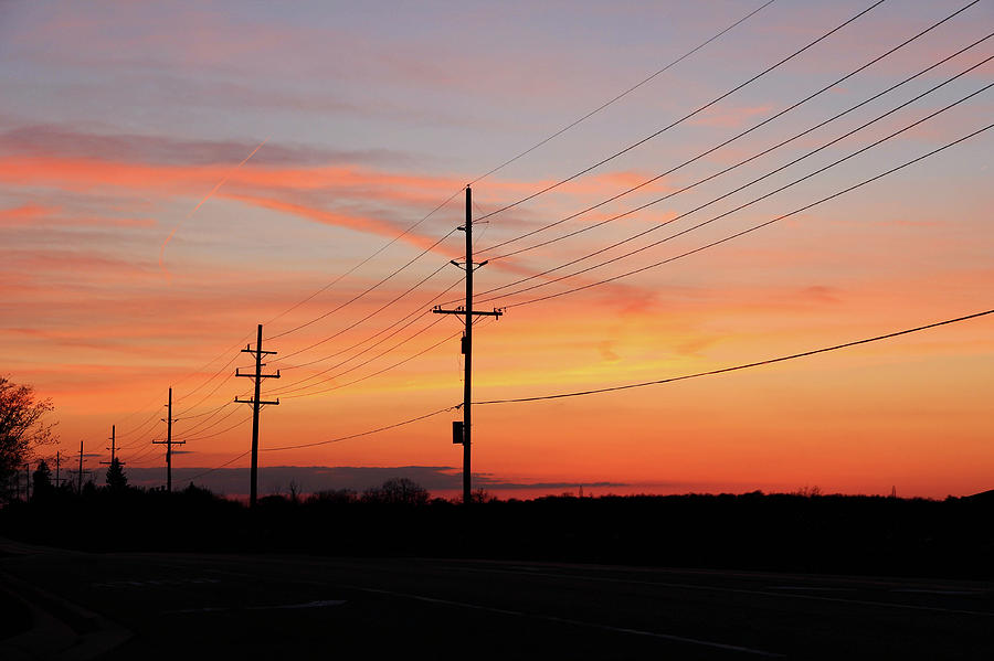 Linemans Sunset Photograph  - Linemans Sunset Fine Art Print