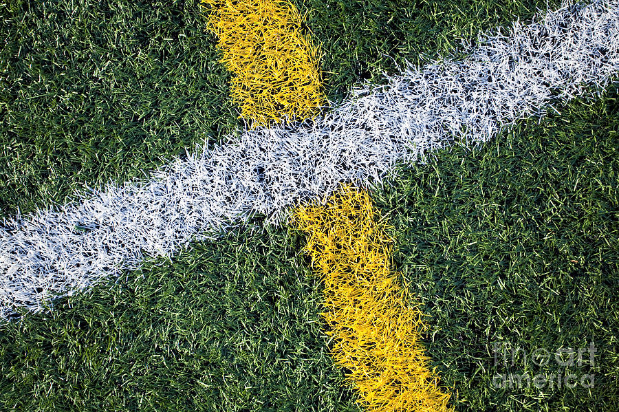 Lines On Sports Field Photograph  - Lines On Sports Field Fine Art Print