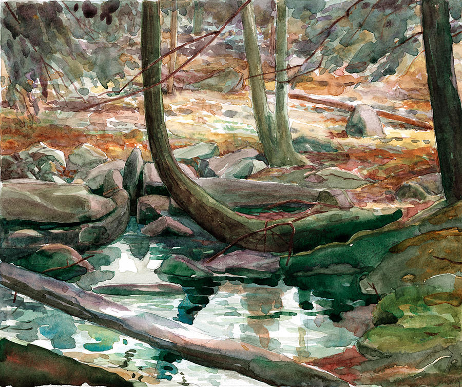 Lingle Stream Painting