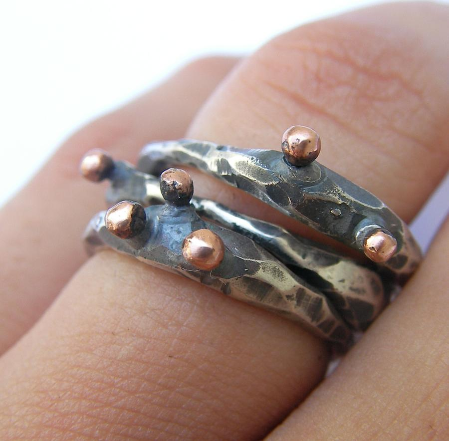 Sterling Silver Jewelry - Links Ring by Teresa Arana
