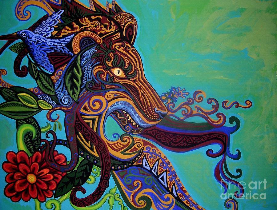 Lion Gargoyle Painting