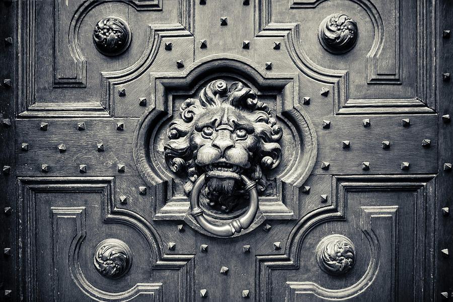 Lion Head Door Knocker Photograph