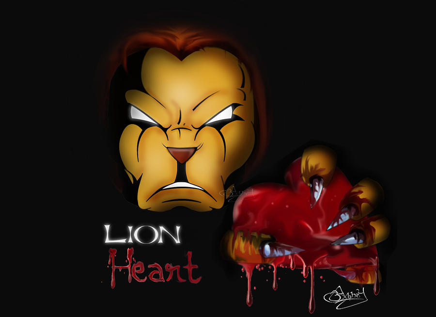 Lion Heart Digital Art  - Lion Heart Fine Art Print