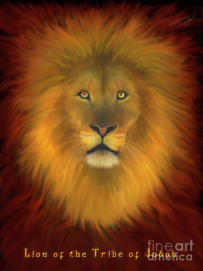 Lion Of Judah Fire In His Eyes 2 Painting  - Lion Of Judah Fire In His Eyes 2 Fine Art Print