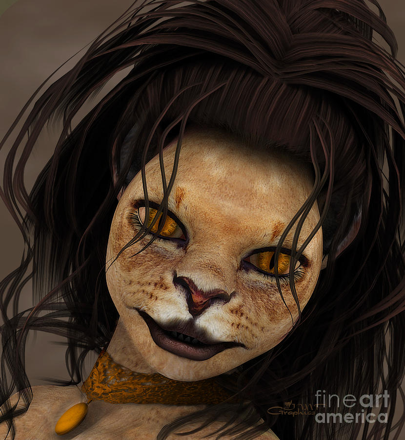 Lioness Digital Art