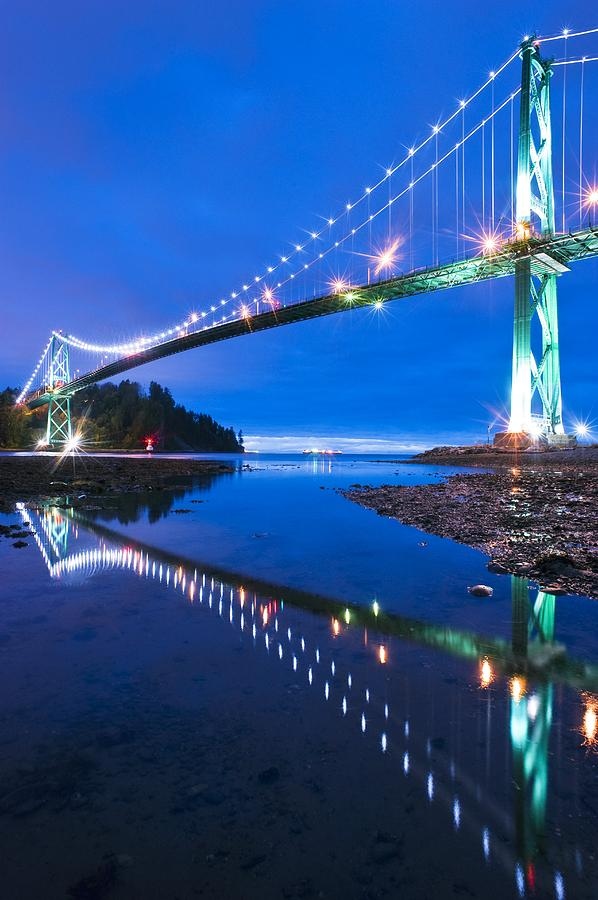 Lions Gate Bridge, Vancouver, Canada Photograph  - Lions Gate Bridge, Vancouver, Canada Fine Art Print