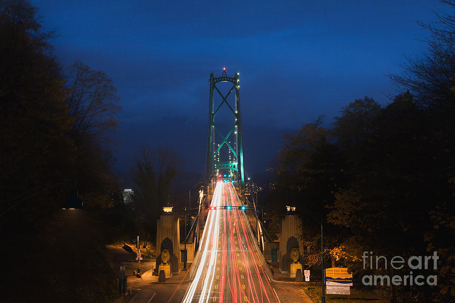 Lions Gate Traffic Photograph  - Lions Gate Traffic Fine Art Print