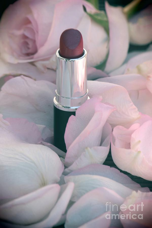 Lipstick Photograph - Lipstick And Roses by Sophie Vigneault