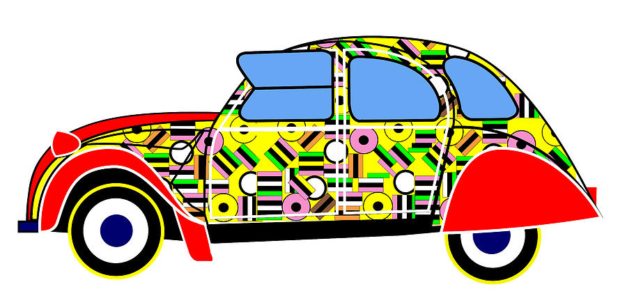 Liqourice Allsorts - Virtual Car Digital Art