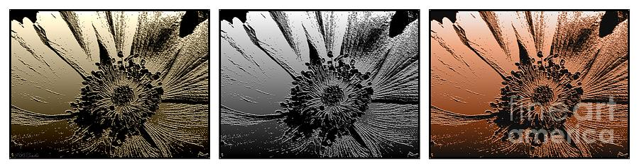 Liquid Metal Anemone Digital Art  - Liquid Metal Anemone Fine Art Print