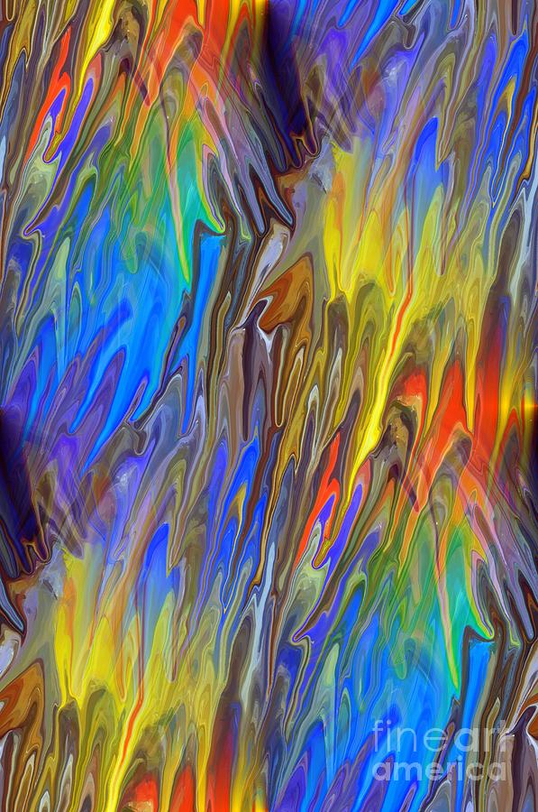 Liquid Rainbow Mixed Media  - Liquid Rainbow Fine Art Print