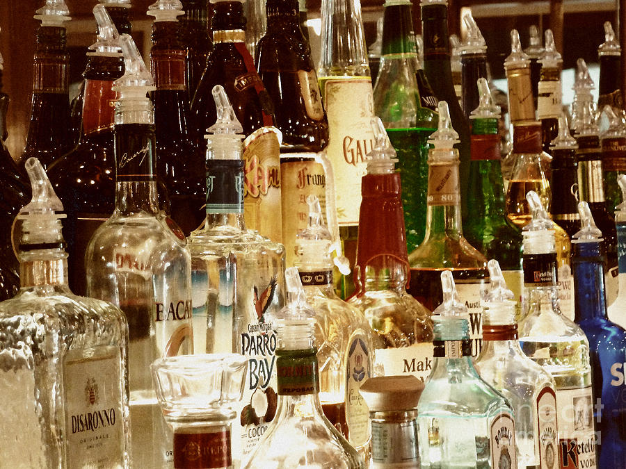 Liquor Bottles Photograph