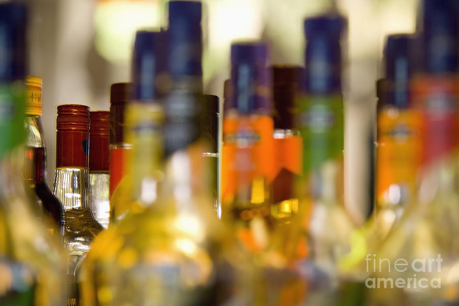 Liquor Bottles Photograph  - Liquor Bottles Fine Art Print