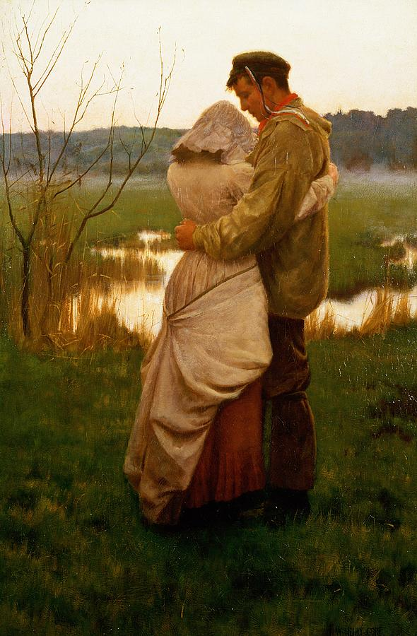 Lovers Painting - Listed by William Henry Gore