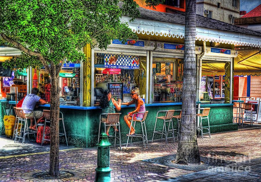 Snack Bar Photograph - Listen To Me by Arnie Goldstein