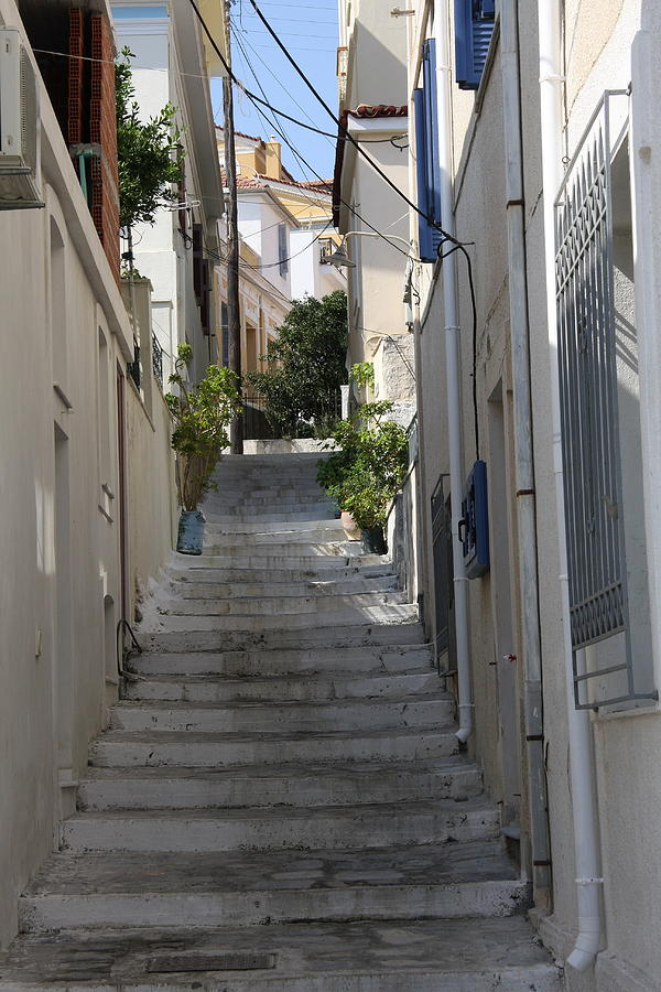 Little Alley - Samos Photograph  - Little Alley - Samos Fine Art Print
