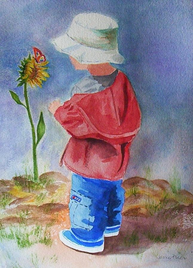 Little Boy Painting  - Little Boy Fine Art Print