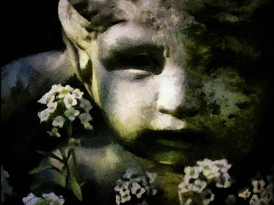 Little Boy Of Stone Digital Art  - Little Boy Of Stone Fine Art Print