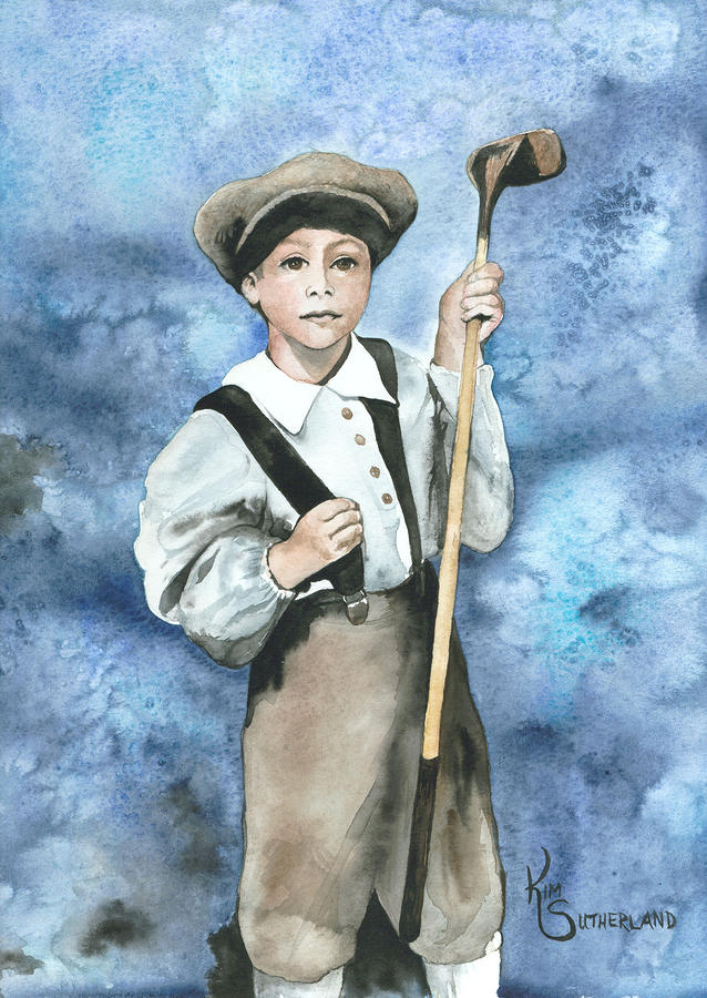 Little Caddy Painting  - Little Caddy Fine Art Print