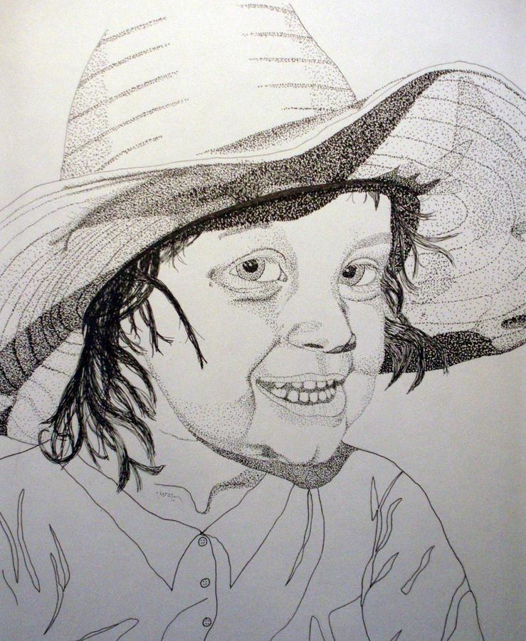 Little Cowgirl Drawing