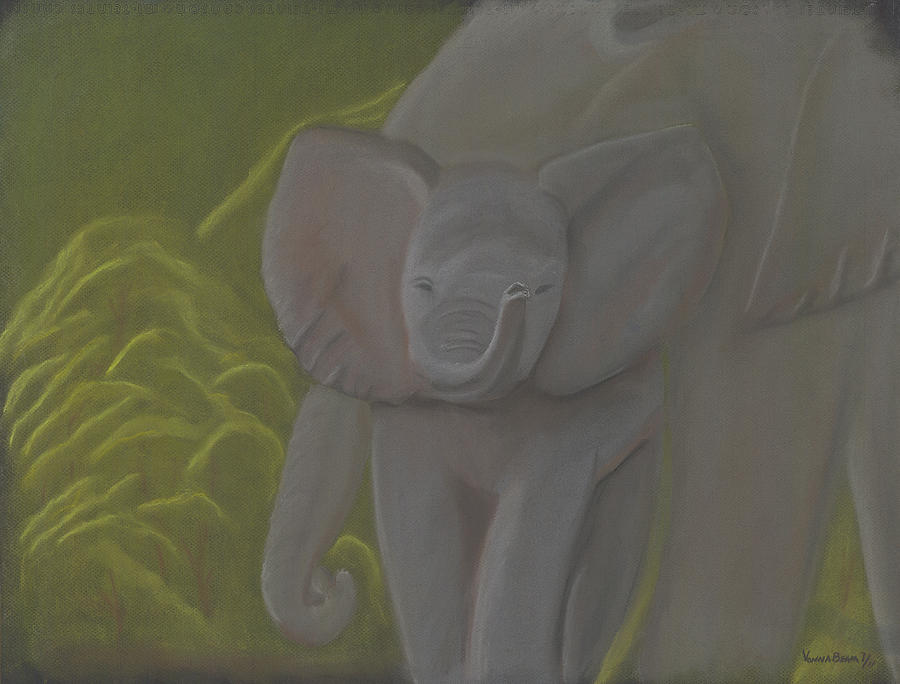 Little Elephant Pastel  - Little Elephant Fine Art Print