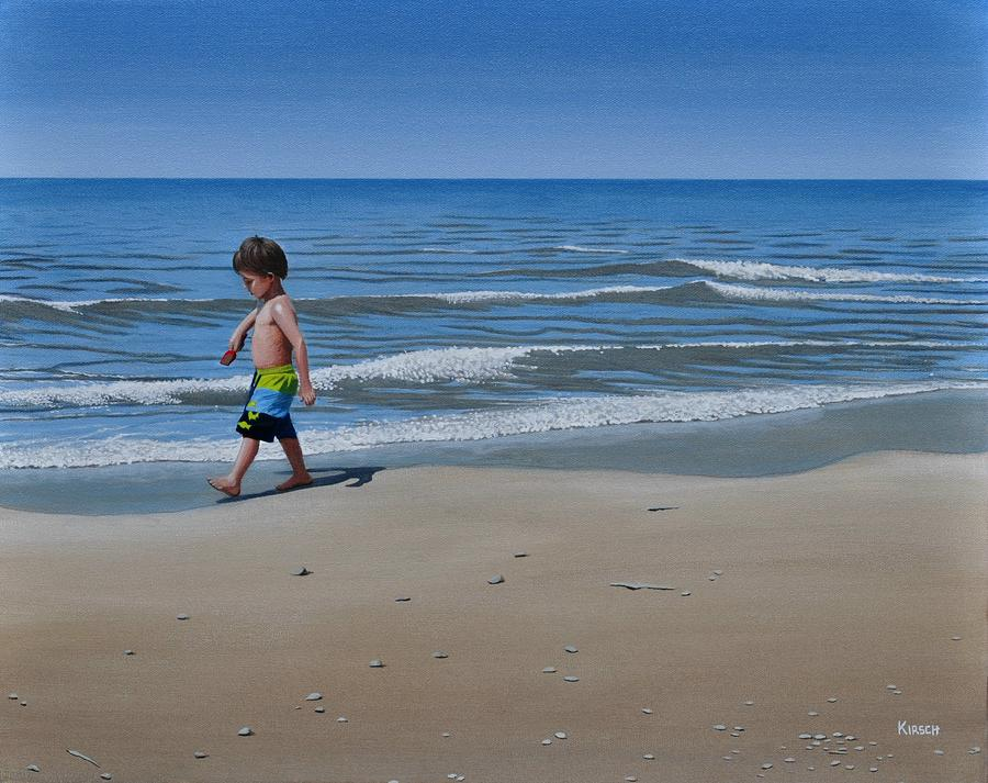 Little Explorer Painting  - Little Explorer Fine Art Print
