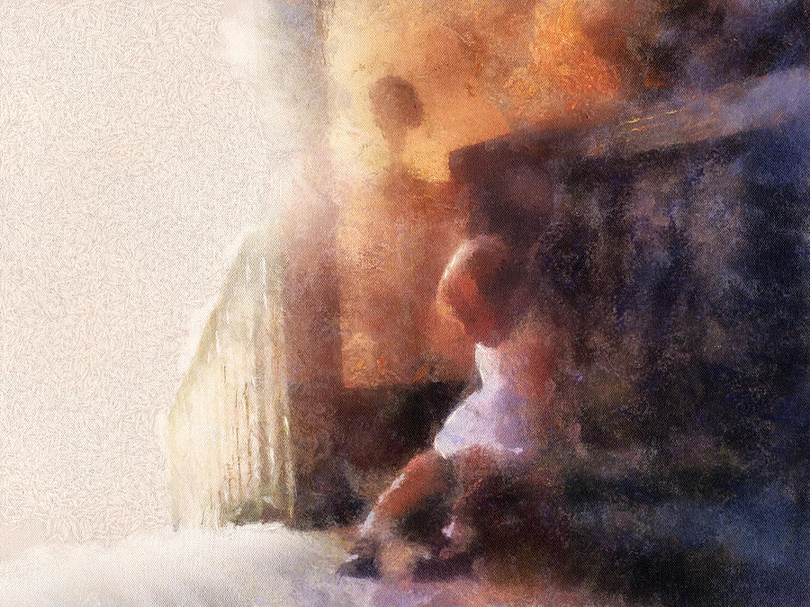 Little Girl Thinking Photograph  - Little Girl Thinking Fine Art Print