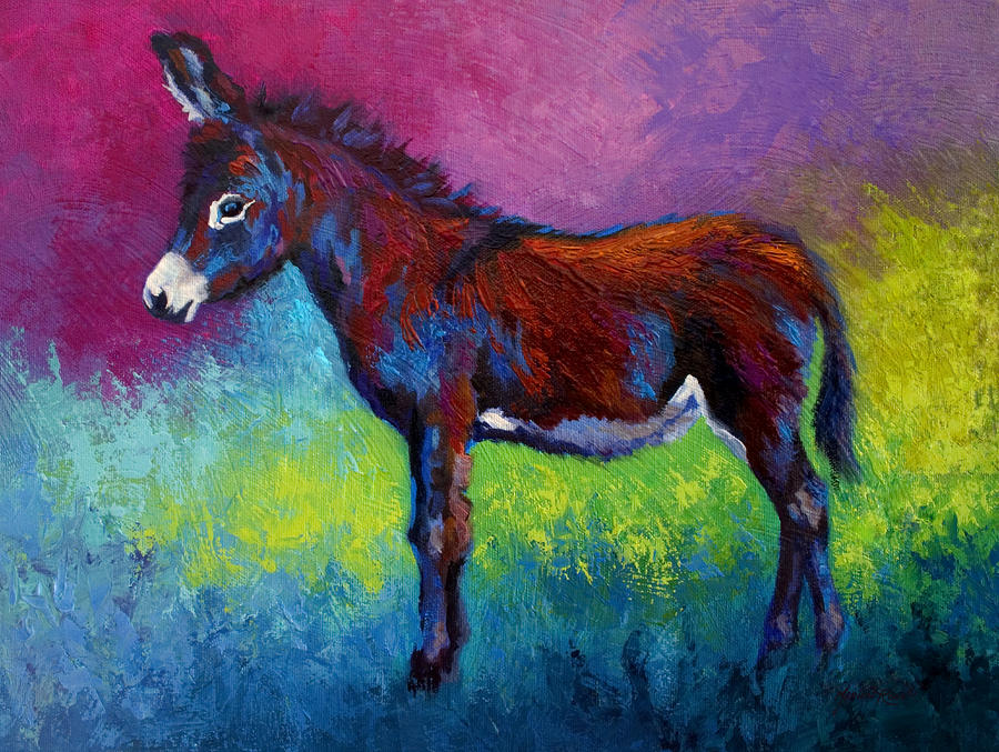 Little Jenny - Burro Painting
