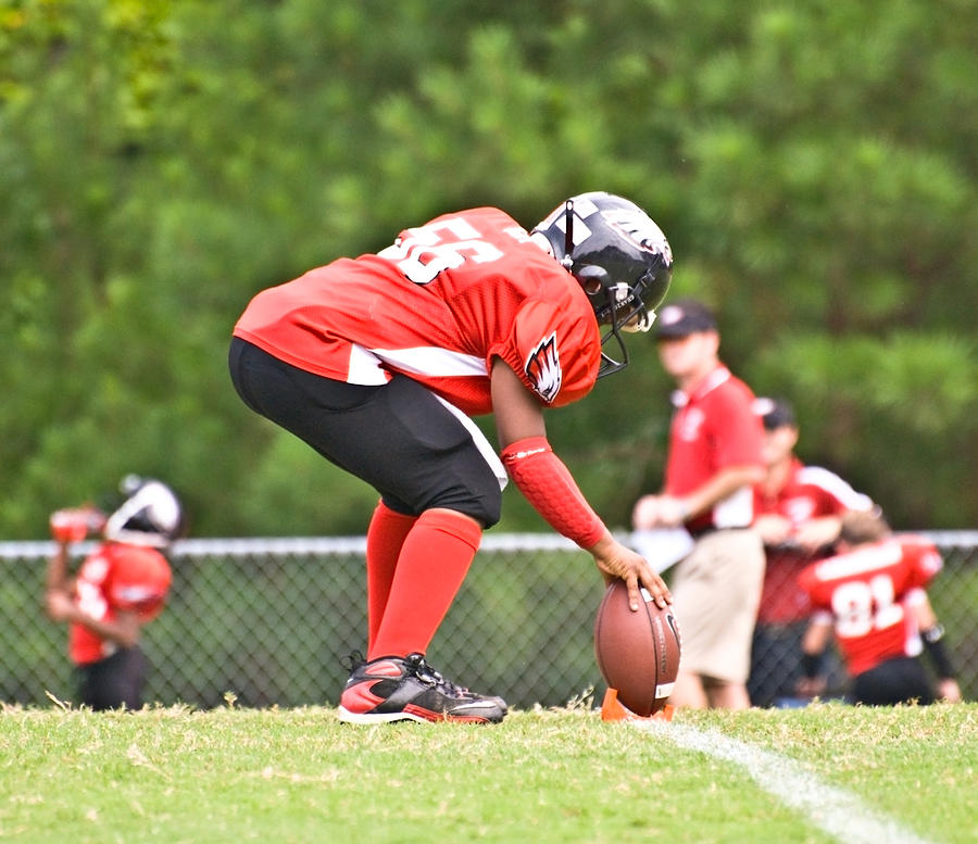 Little League Football Kickoff Photograph