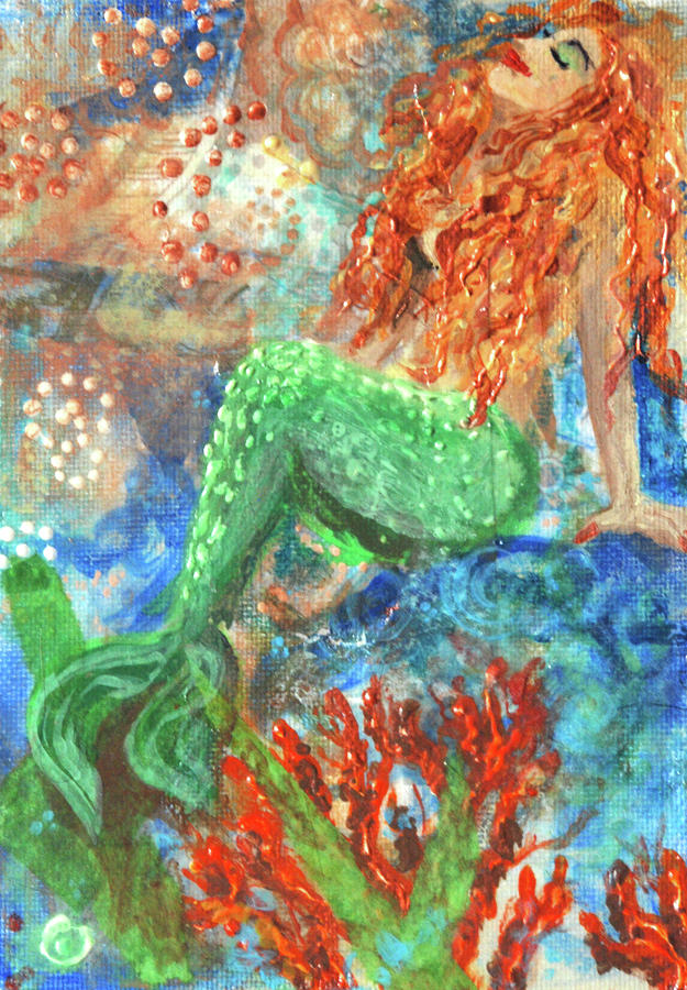 Little Mermaid Mixed Media