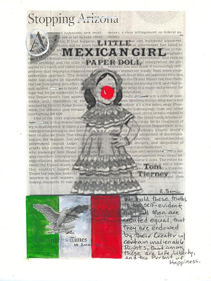 Little Mexican Girl Painting