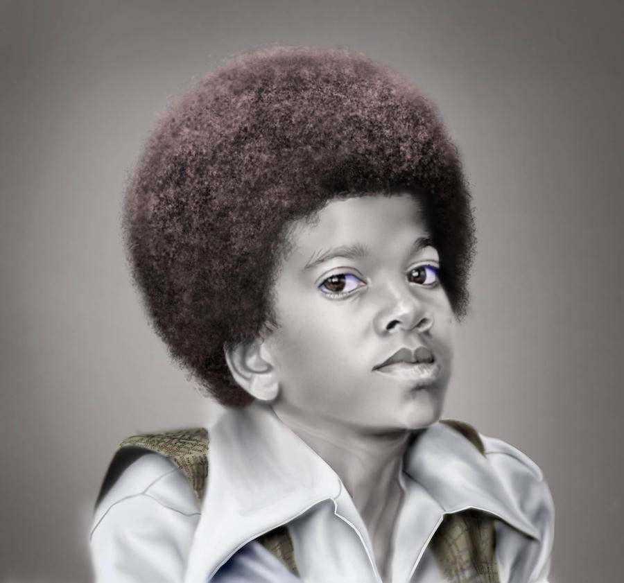 Little Michael Painting  - Little Michael Fine Art Print