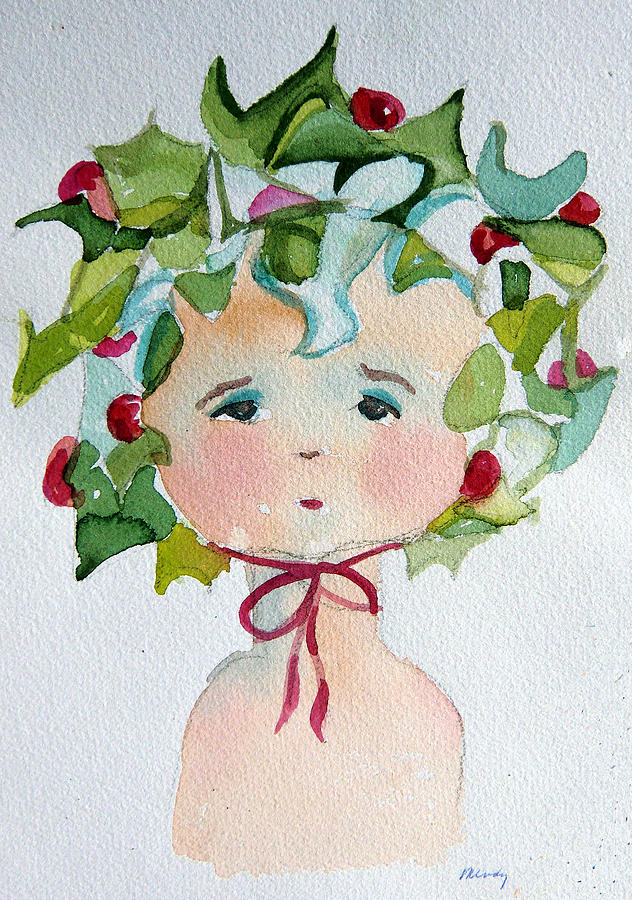 Little Miss Innocent Ivy Painting  - Little Miss Innocent Ivy Fine Art Print
