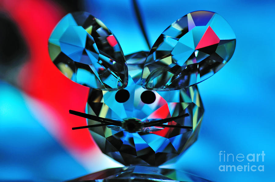 Little Mouse - Lead Crystal Photograph  - Little Mouse - Lead Crystal Fine Art Print
