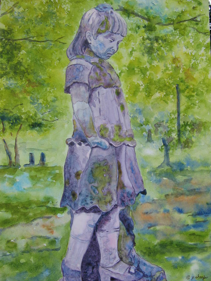 Statue Portrait Painting - Little Nanny  by Patsy Sharpe