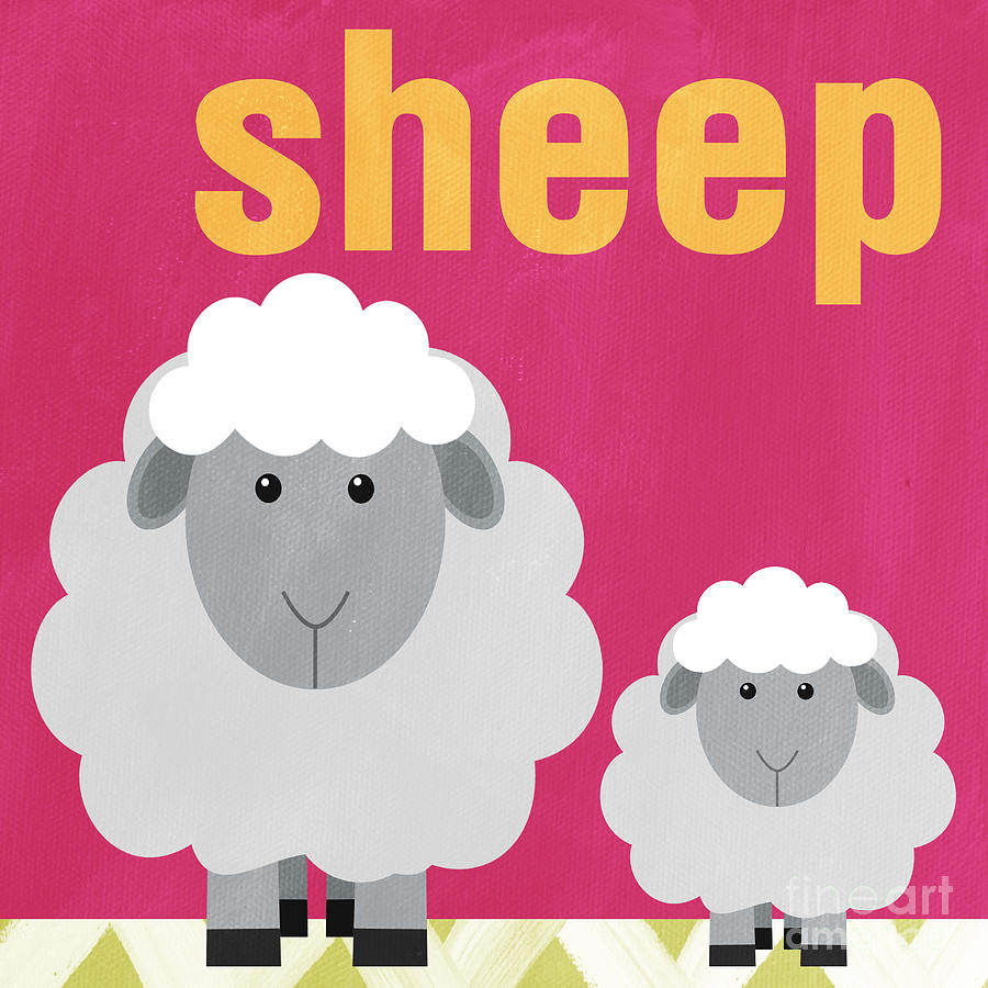 Little Sheep Painting  - Little Sheep Fine Art Print