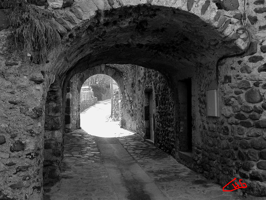 Little Street La Roche Alba Ardeche France Photograph